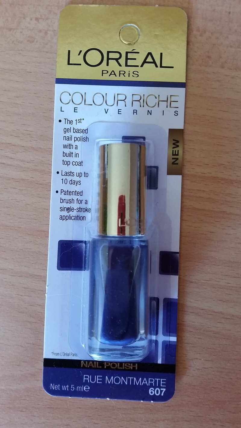 loreal colour riche le vernis 607 rue montmarte